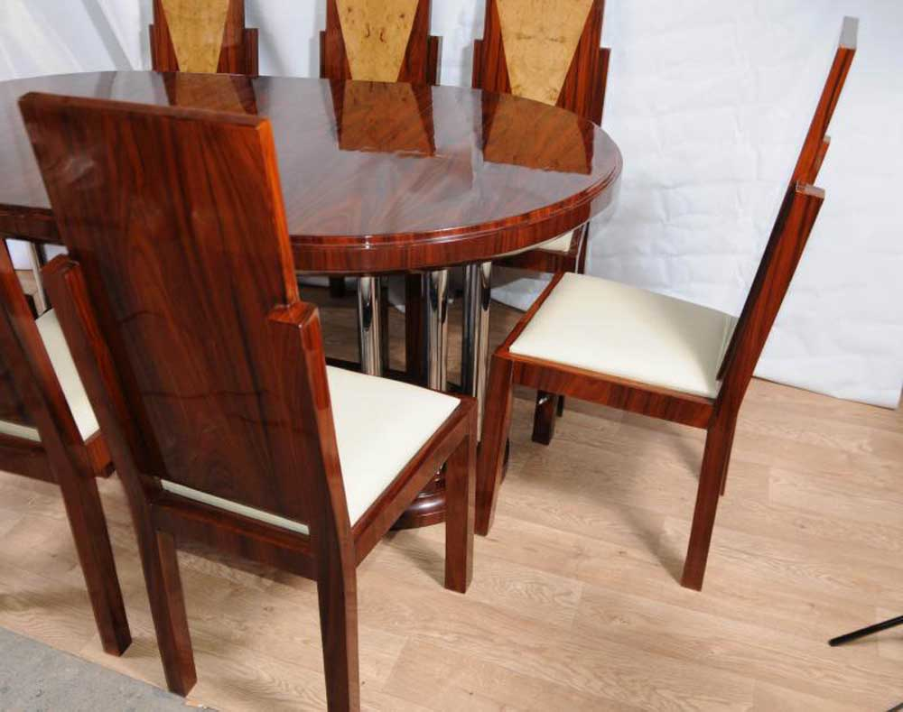 Restaurant Table And Chairs: Art Deco Dining Set Table And Chairs Suite 1920s Furniture