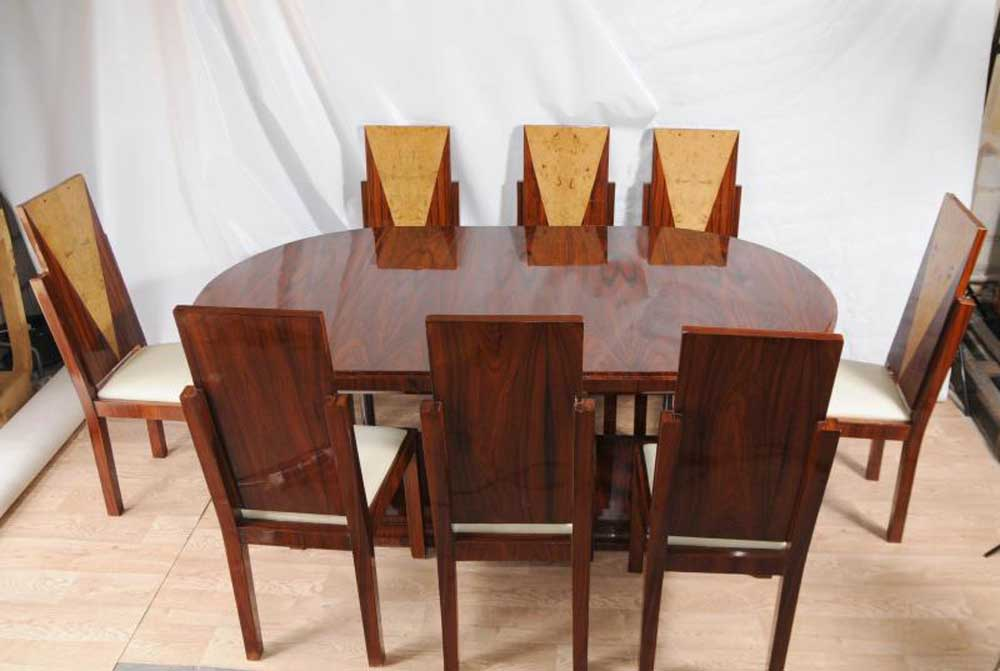 Art Deco Dining Set Table and Chairs Suite 1920s Furniture ...