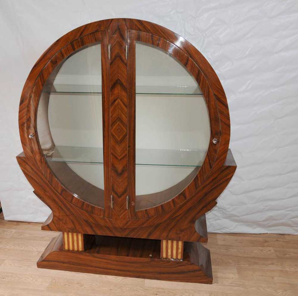 Art Deco Furniture: Art Deco Display Cabinet Bookcase Bijouterie 1920s Furniture