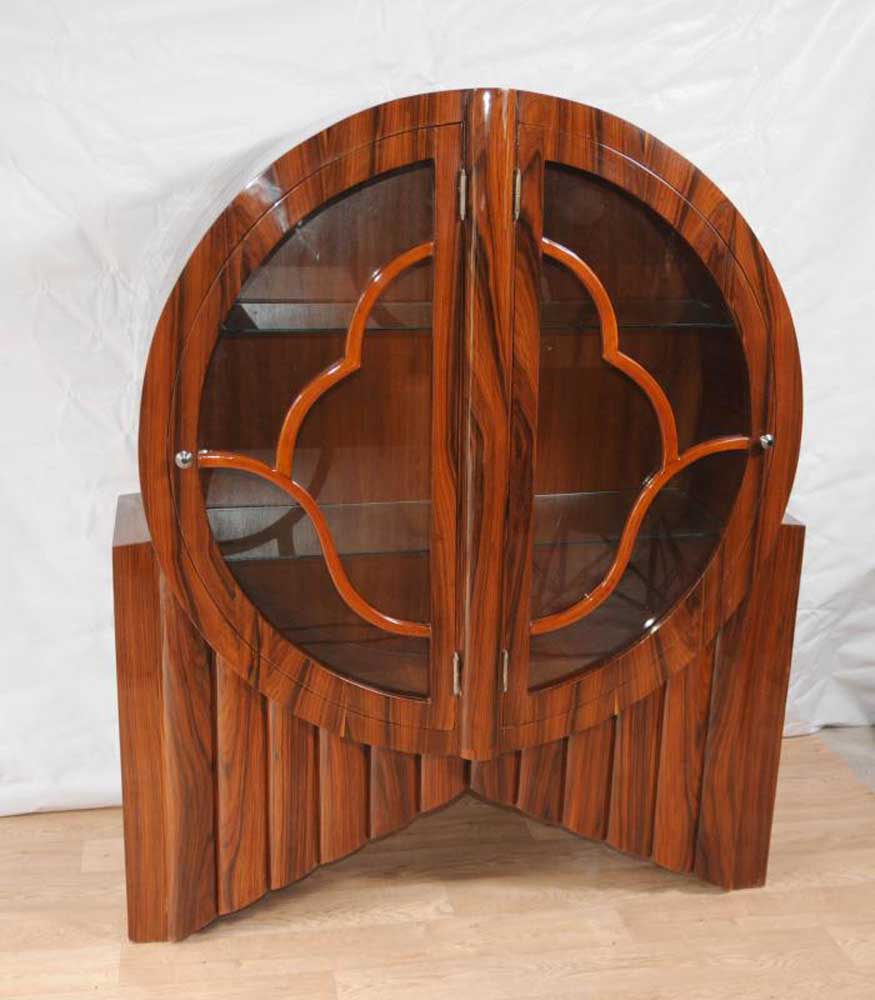 Art deco display cabinet bookcase rosewood vintage for Chinese furniture christchurch