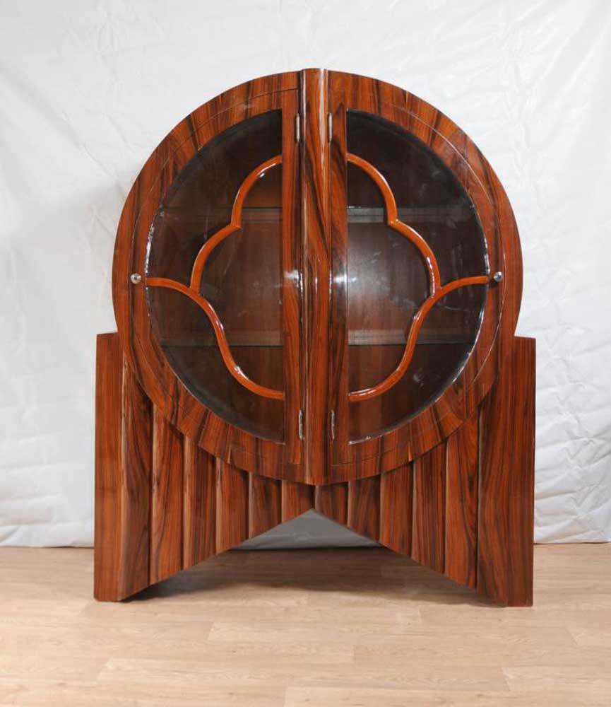 Art deco display cabinet bookcase rosewood vintage for Art design furniture