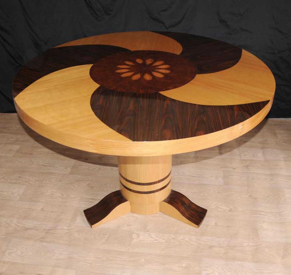Art Deco Inlay Dining Centre Table Furniture 1920s