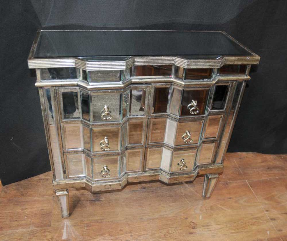 Art Deco Mirror Chest Drawers Mirrored Furniture Chests