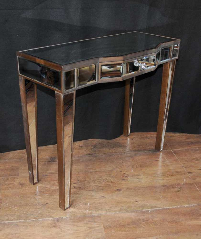tables furniture art deco mirror console table mirrored hall tables furniture