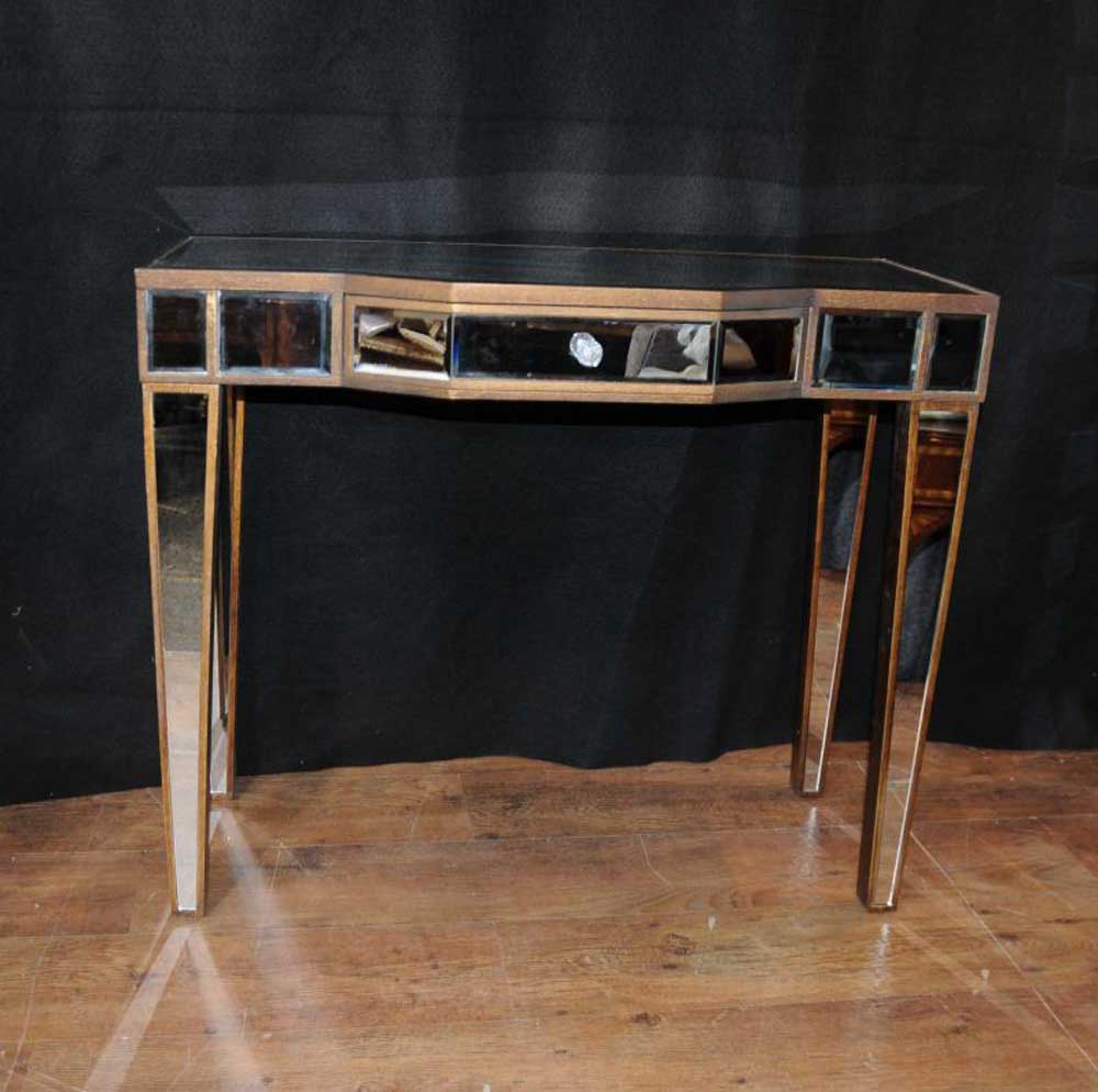 Furniture Console: Art Deco Mirror Console Table Mirrored Hall Tables Furniture