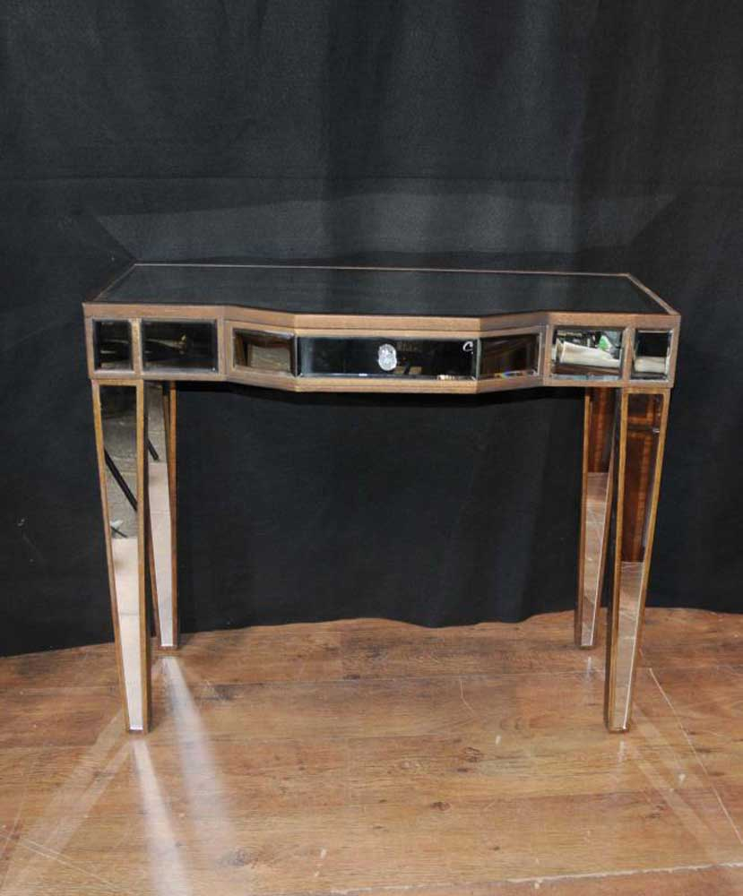 art deco mirror console table mirrored hall tables furniture. Black Bedroom Furniture Sets. Home Design Ideas