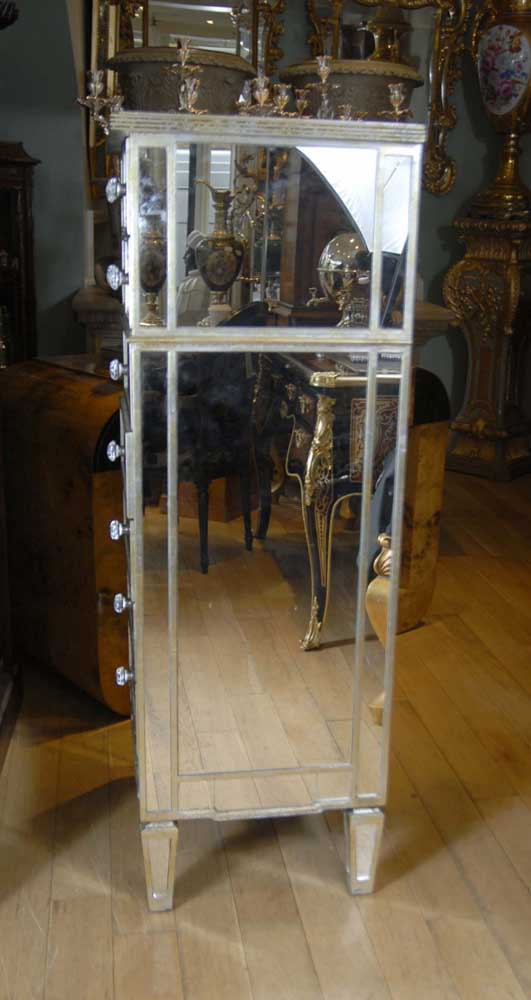 Art Deco Mirrored Chest Drawers Chest Tall Boy