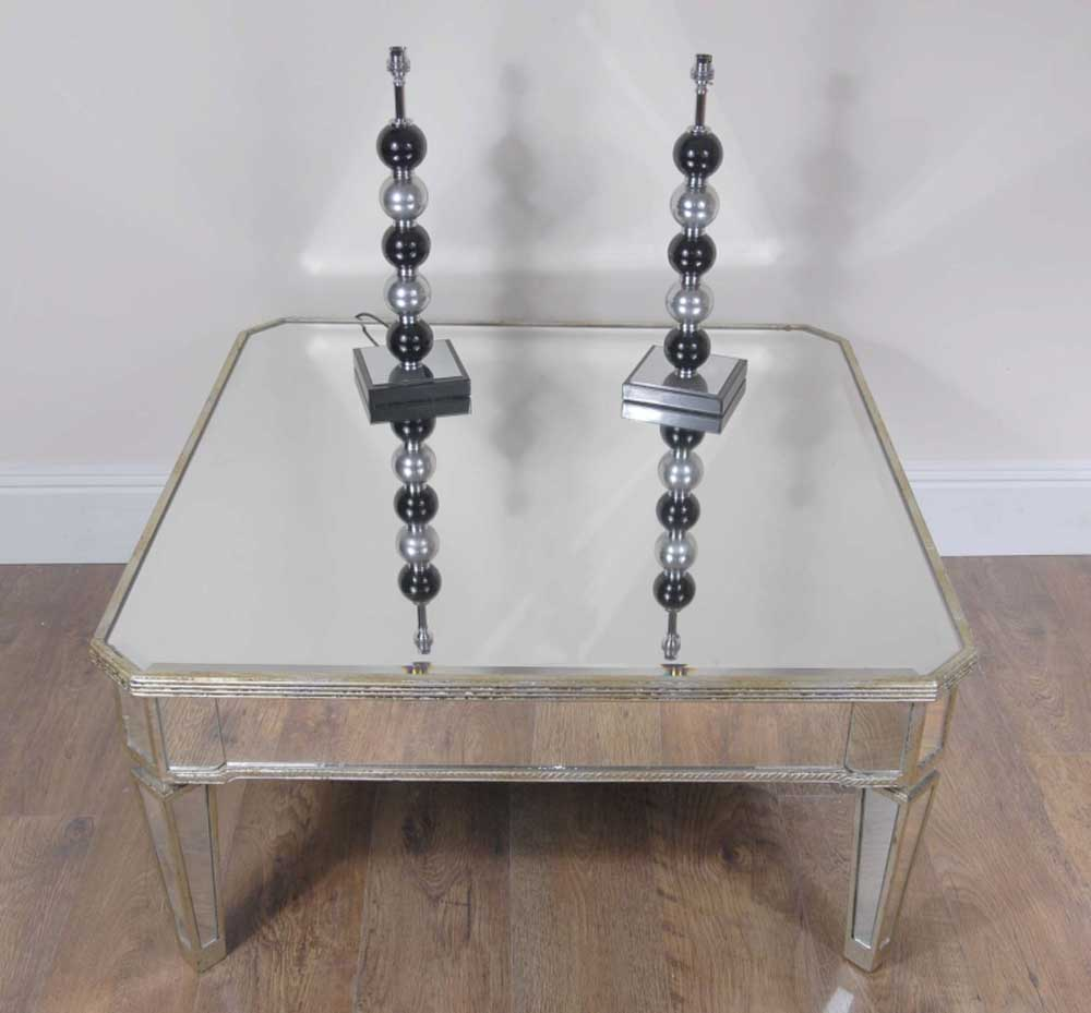art deco mirrored coffee table. Black Bedroom Furniture Sets. Home Design Ideas