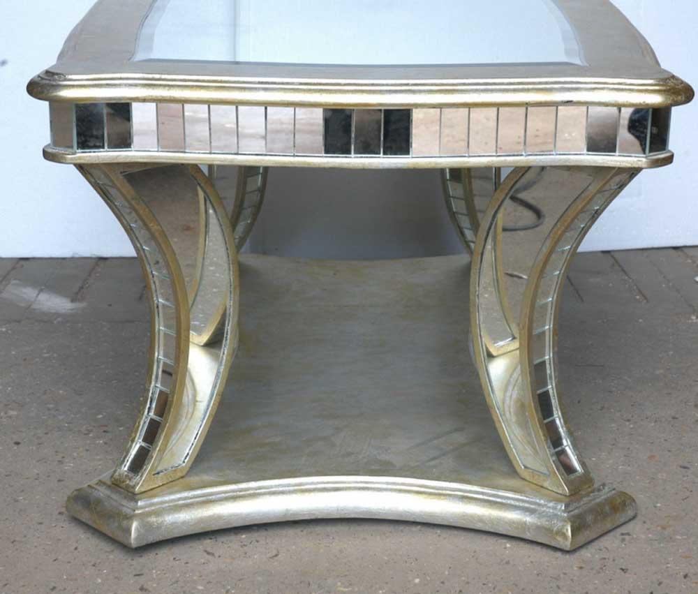 Art Deco Mirrored Coffee Table Glass