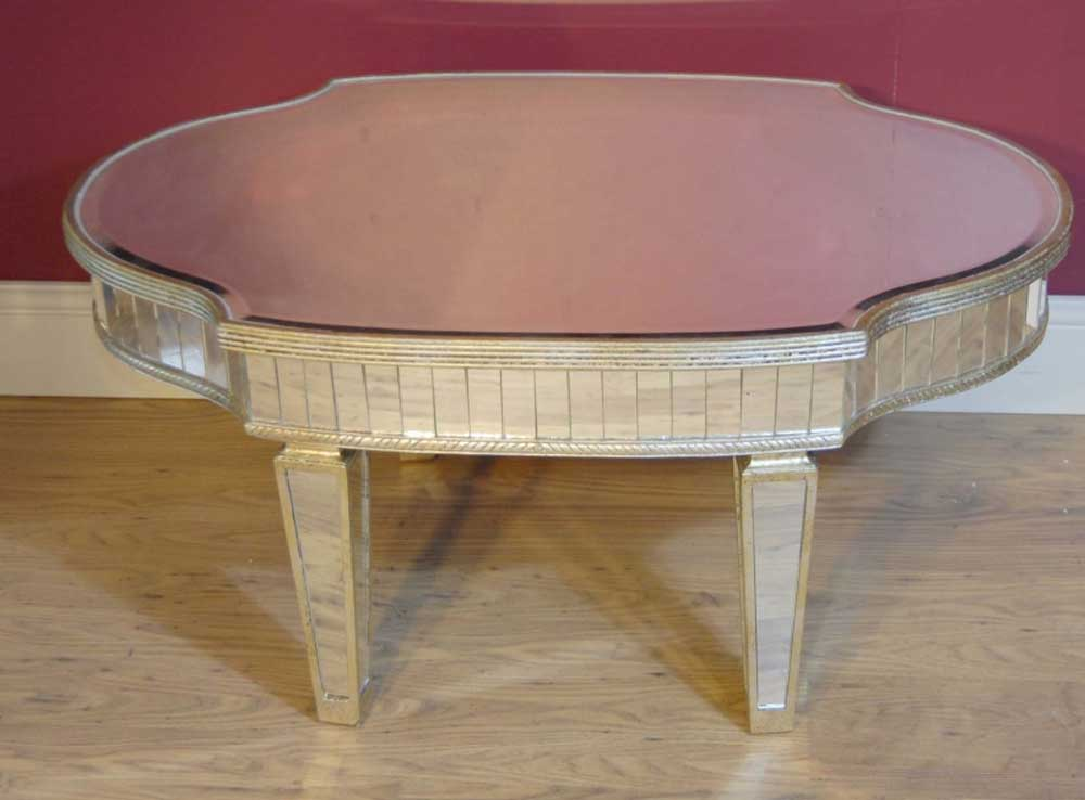 art deco mirrored coffee table tables glass mirror. Black Bedroom Furniture Sets. Home Design Ideas