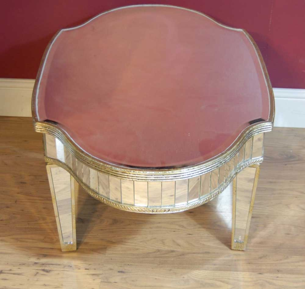Art Deco Mirrored Coffee Table Tables Glass Mirror