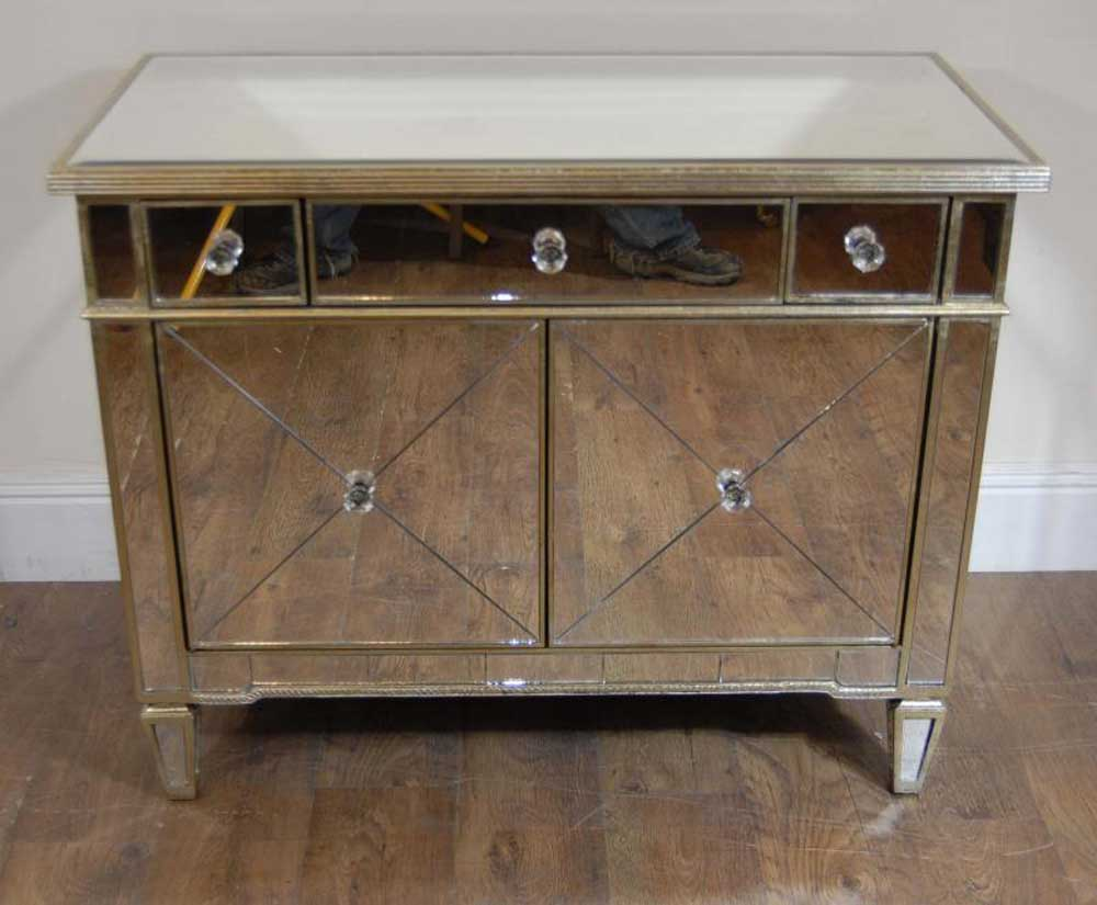 art deco mirrored commode cabinet chest bedroom. Black Bedroom Furniture Sets. Home Design Ideas