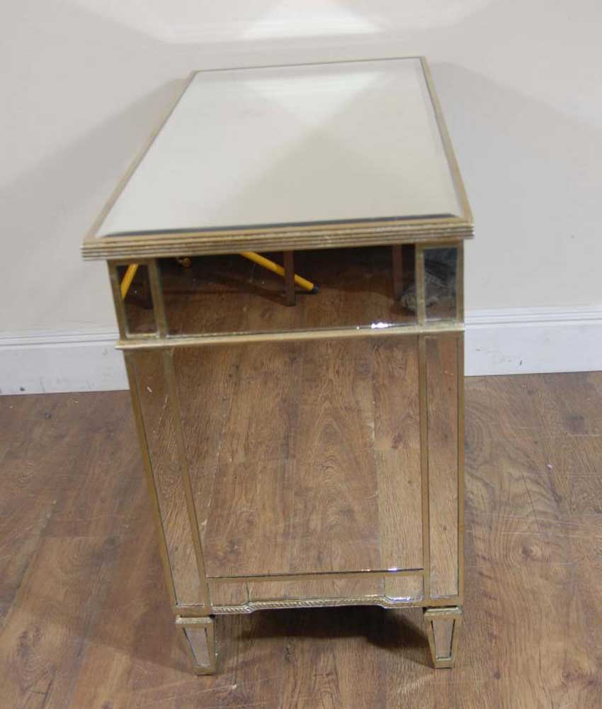 Art deco mirrored commode cabinet chest bedroom for Commode miroir art deco