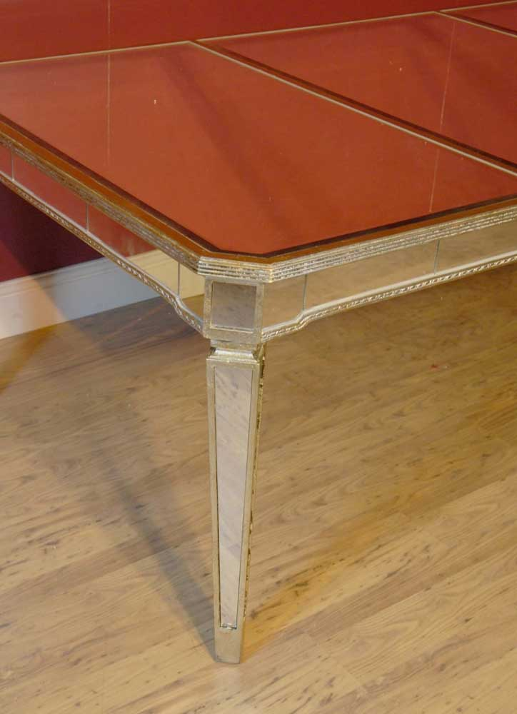 Art Deco Mirrored Dining Table Desk Mirror Furniture