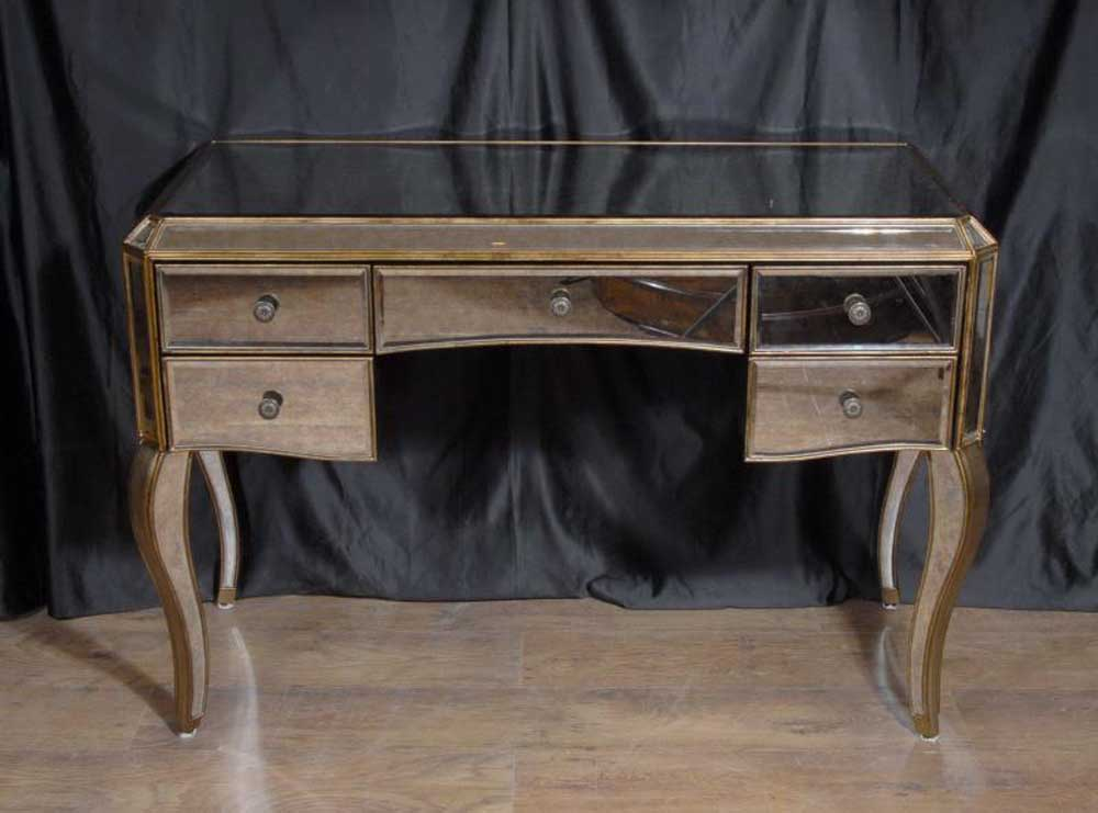 Art Deco Mirrored Dressing Table Writing Desk