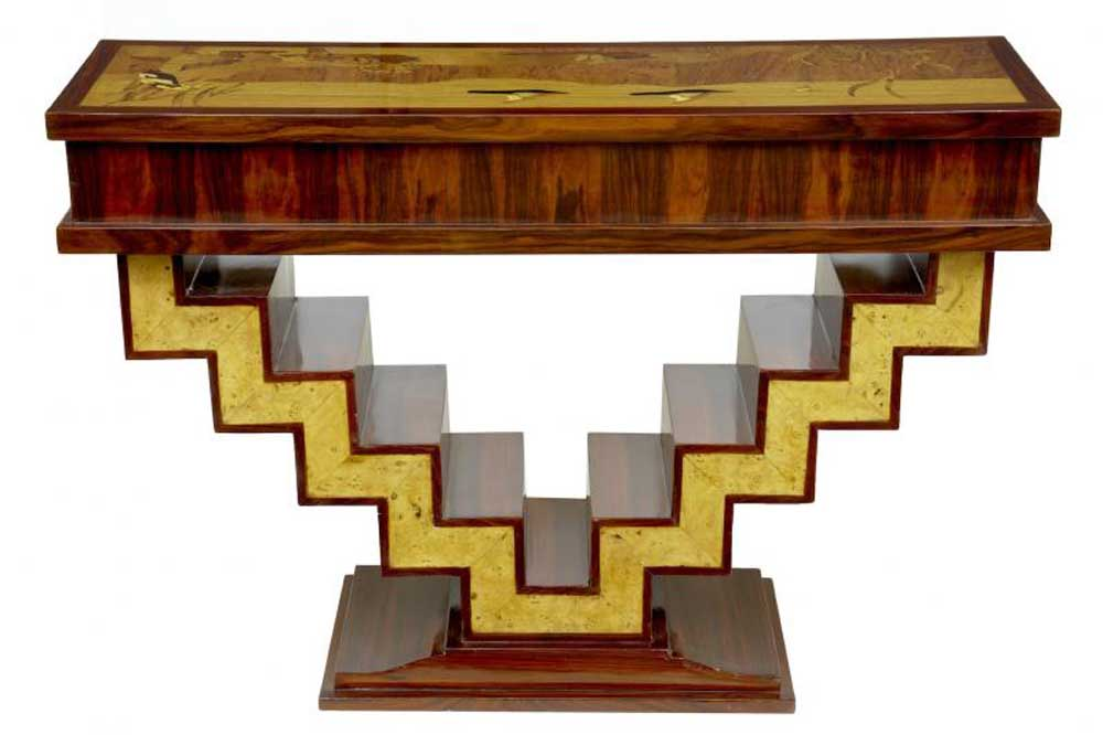 art deco modernist hall table console tables furniture