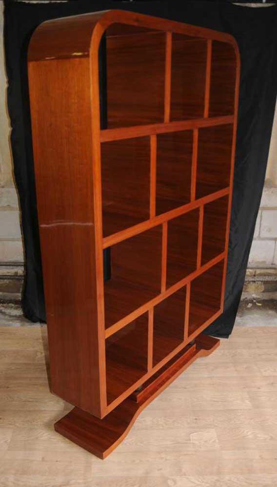 Art Deco Rosewood Bookcase Shelf Unit Cabinet
