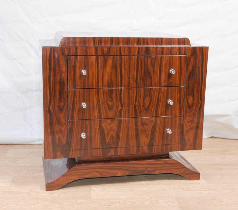 art deco rosewood chest drawers commode cabinet furniture. Black Bedroom Furniture Sets. Home Design Ideas