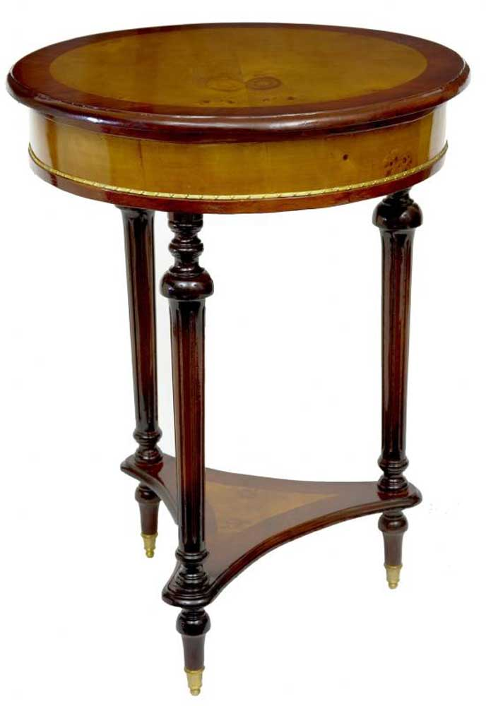 Art Deco Round Side Table Occasional Tables