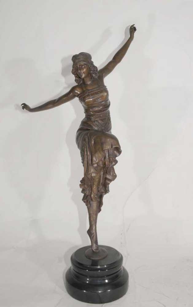 Art Deco Russian Dancer Bronze By Philippe