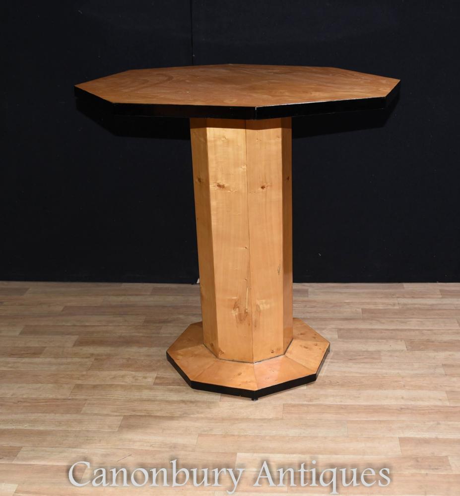 Art deco side table octagonal cocktail tables for Table de nuit art deco