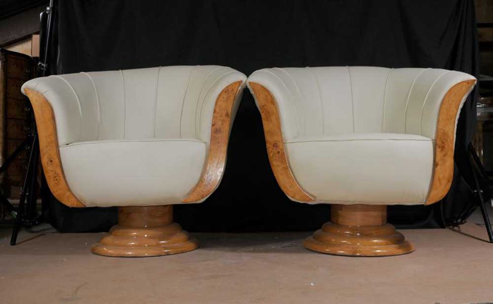 Art Deco Sofa Arm Chairs Club Seats Armchairs Shell