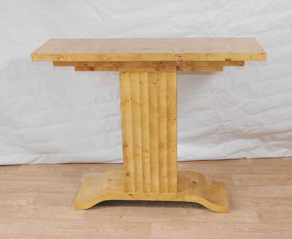 art deco table 1920s console tables blonde walnut vintage. Black Bedroom Furniture Sets. Home Design Ideas