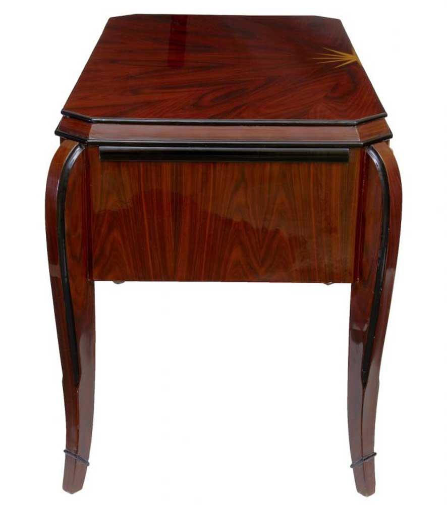 art deco vintage desk rosewood bureau plat dressing table. Black Bedroom Furniture Sets. Home Design Ideas