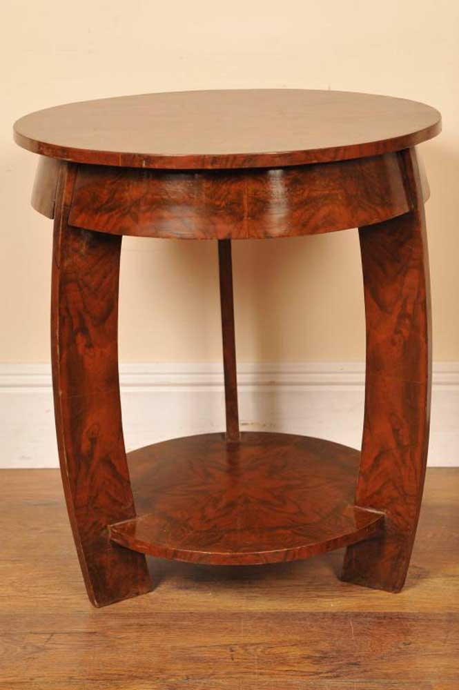 Art Deco Walnut Side Table Occassional
