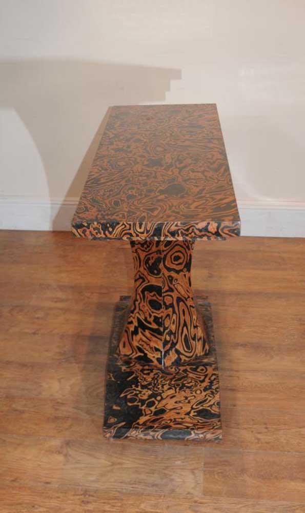 Art Deco Zebra Console Table Tables Furniture