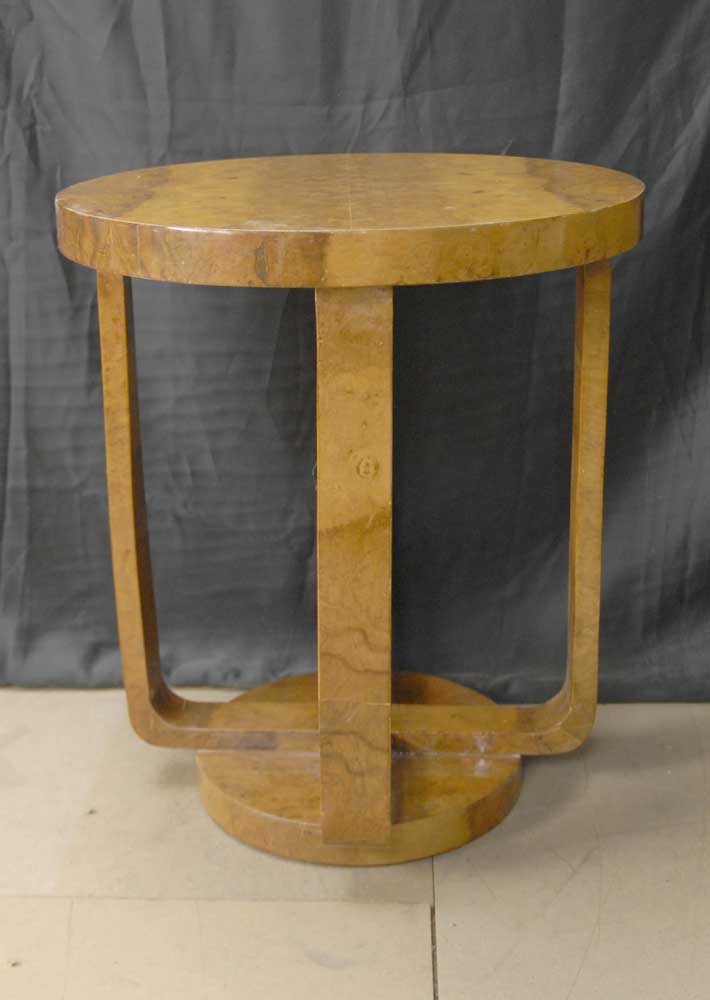 Blonde Walnut Art Deco Side Table Tables Occasional