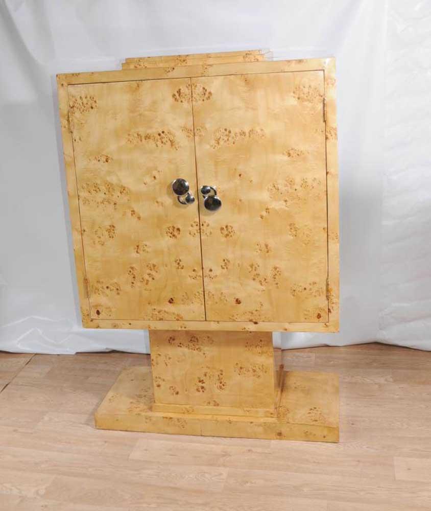 Bedroom Tv Cabinet Design Art Deco Style Bedroom Ideas Bedroom Fireplace Bedroom Design Styles: Blonde Walnut Art Deco TV Cabinet Chest Cupboard Furniture