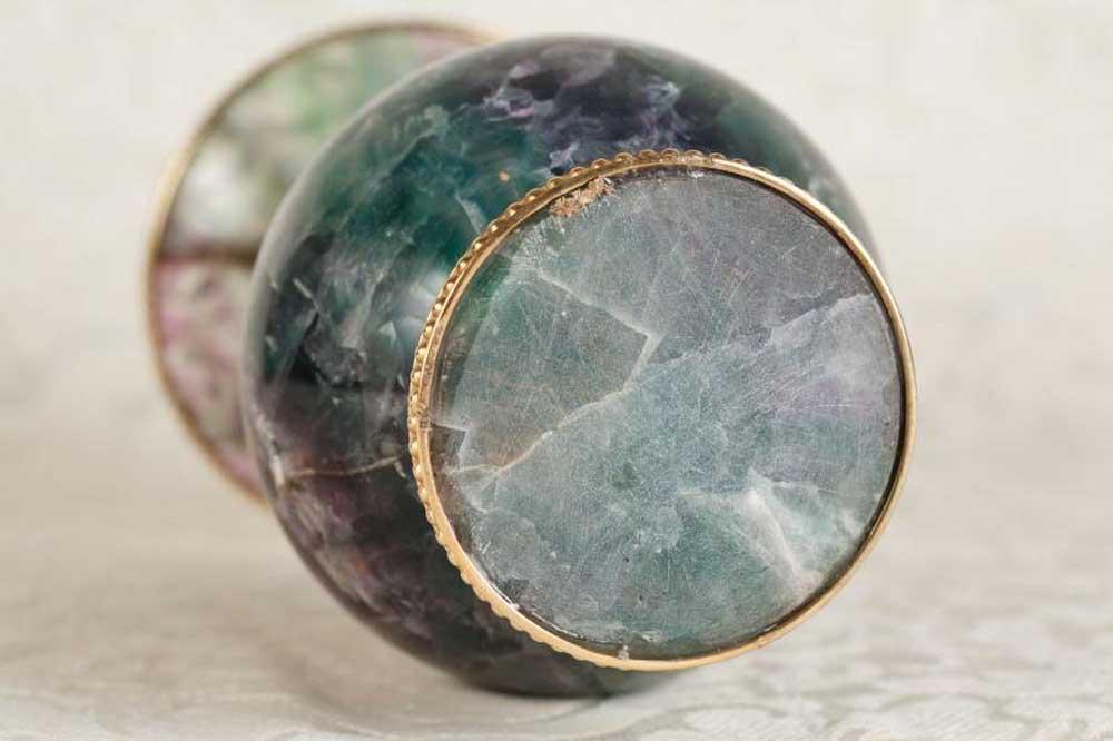 Blue John Stone Urn Vase Campana Urns English Fluorite