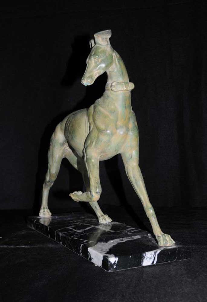 Greyhound Shipping Quote >> Bronze Greyhound Dog Art Deco Statue Casting Dogs