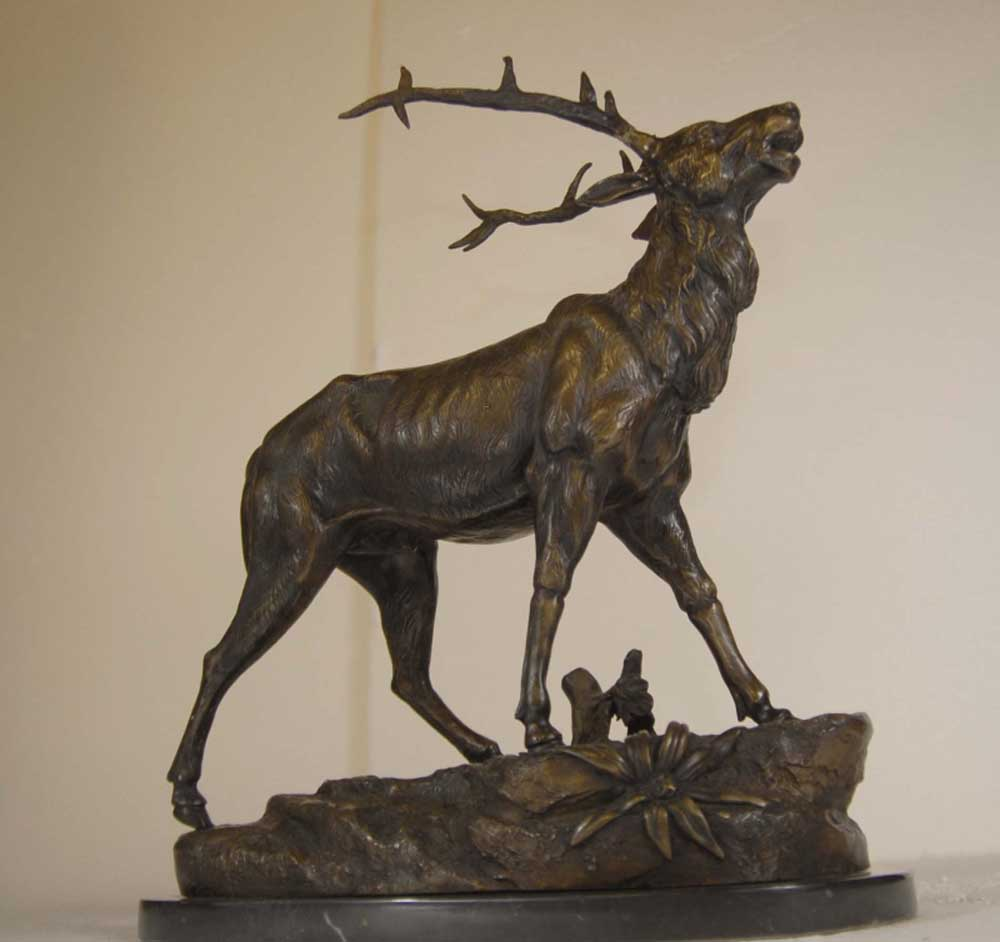 Bronze Scottish Stag Stags Sculpture Deer Moose