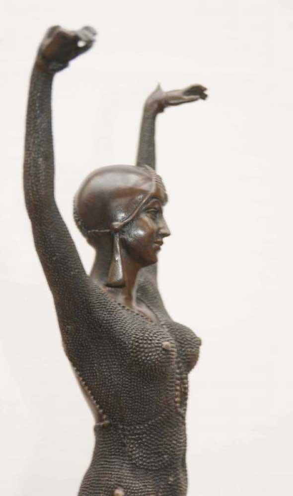 Chiparus Art Deco Bronze Dancer Figurine