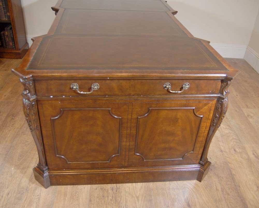 chippendale mahogany english partners desk desks office bureau writing. Black Bedroom Furniture Sets. Home Design Ideas