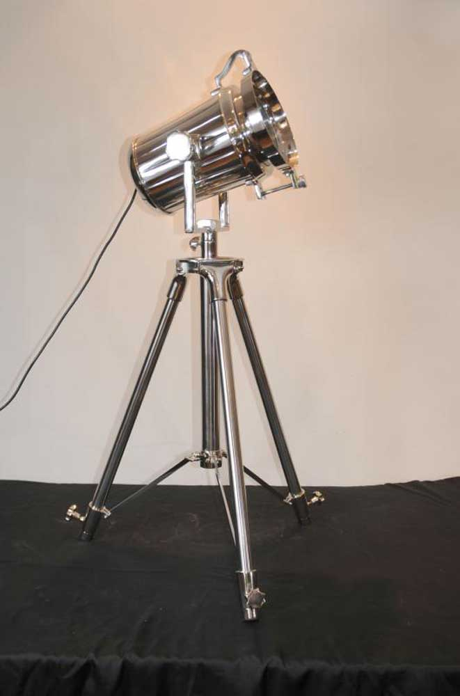 Chrome Spot Light Floor Lamp Tripod Spotlight