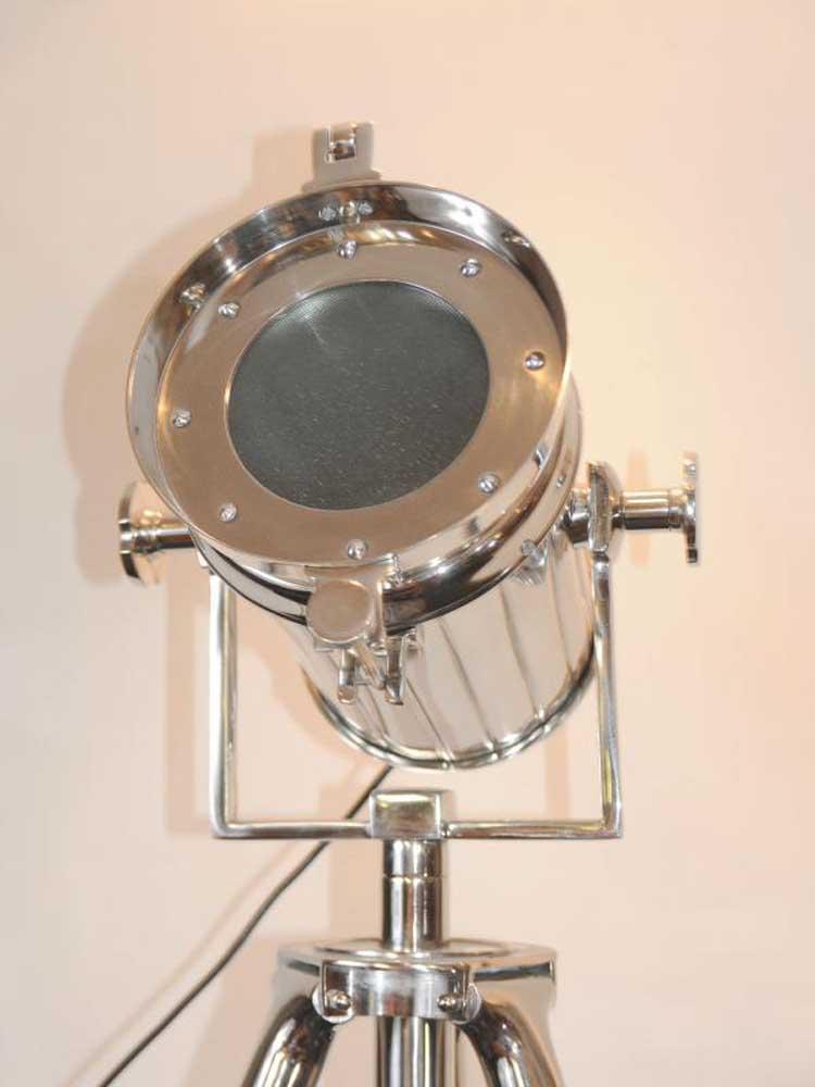 English Study Room: Chrome Spot Light Floor Lamp Tripod Spotlight