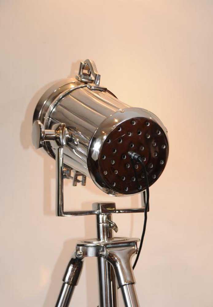 Chrome Spot Light Floor Lamp Tripod Spotlight