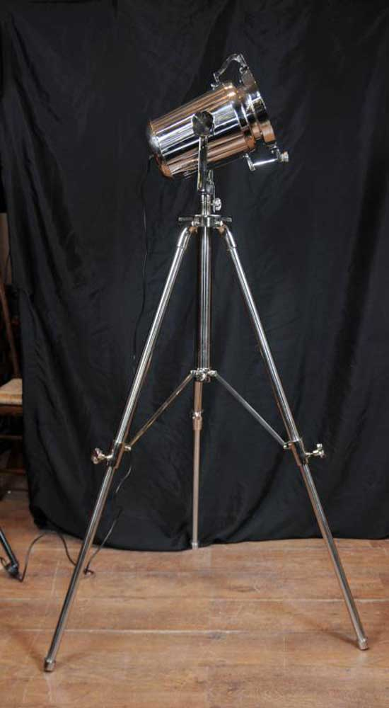 Chrome Tripod Spot Light Floor Lamp Tall Light