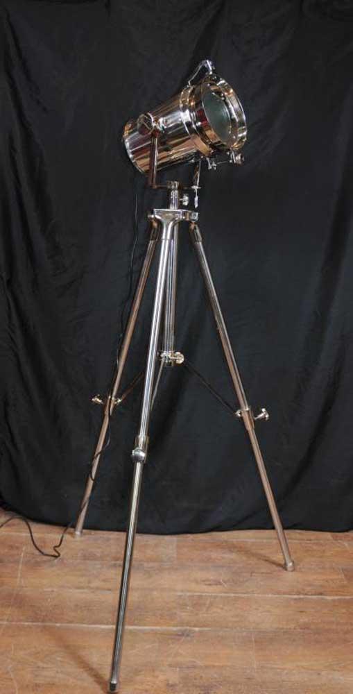 Chrome Tripod Spot Light Floor Lamp Tall Light