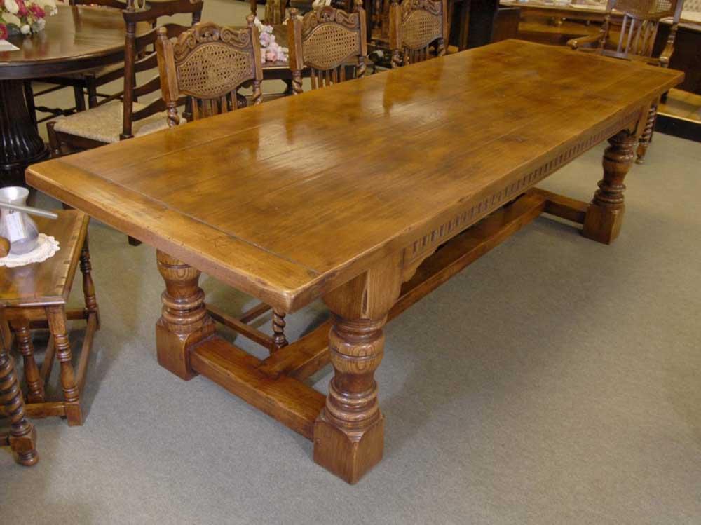 Chunky Abbey Farmhouse Refectory Table Oak Rustic Tables