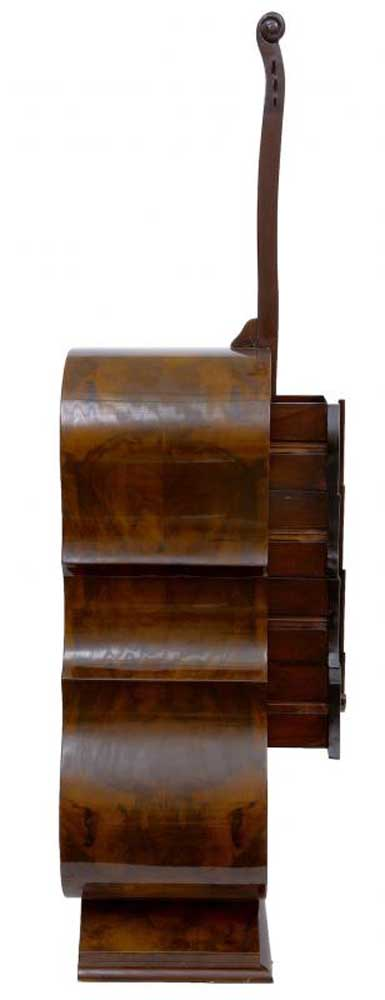 Deco Walnut Double Bass Chest Drawers Musical Instrument
