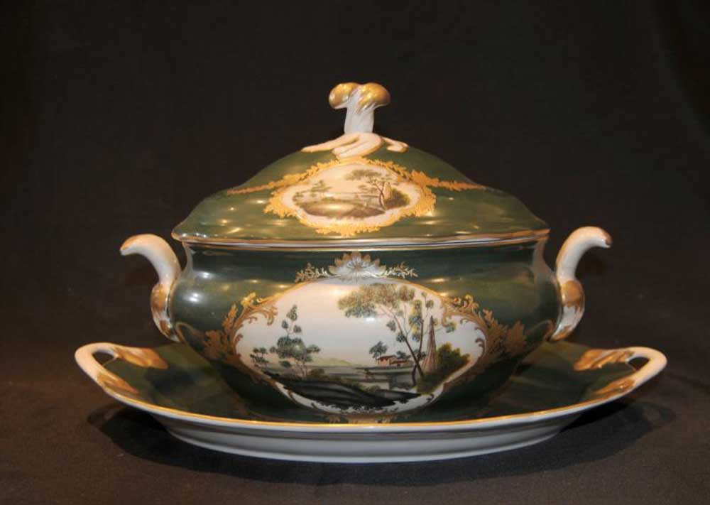 Dresden Porcelain Tureen Dish Plate German China & German Porcelain Dinnerware - Castrophotos