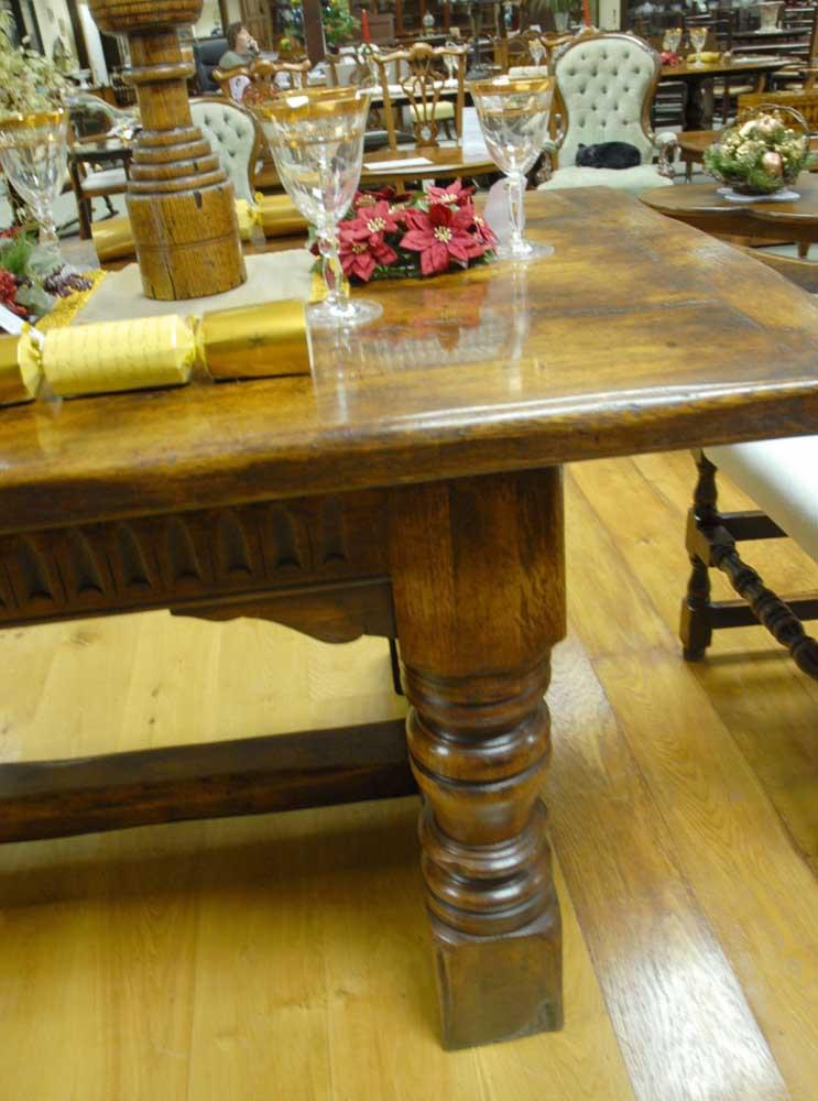 Oak Refectory Table English Rustic Farmhouse Kitchens