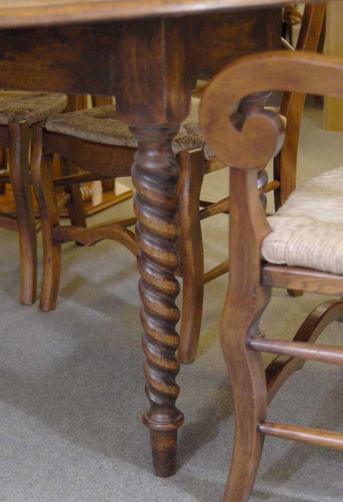 English Barley Twist Refectory Table Amp Ladderback Chair Set