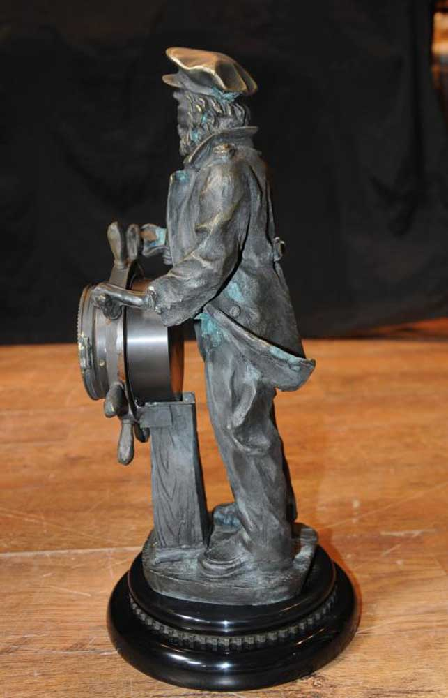 Joe For Oil >> English Bronze Statue Sea Captain Helmsman Figure Ship ...