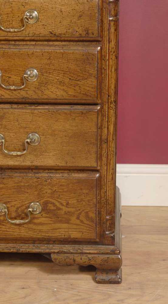 English Farmhouse Oak Chest Drawers Rustic Cabinet