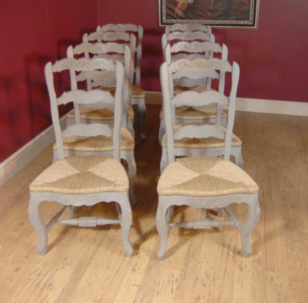 English Farmhouse Painted Ladderback Chair & Kitchen